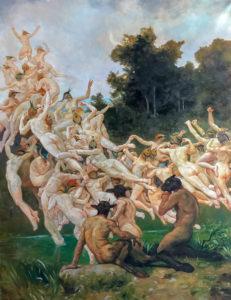 Les Oréades Huile sur toile 200x160 cm 2019 par Laure Boin