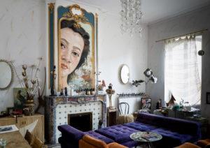 Sans titre Huile sur mur par Laure Boin