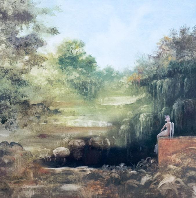 Solitude, Huile sur toile 120X120 cm 2017, by Laure Boin
