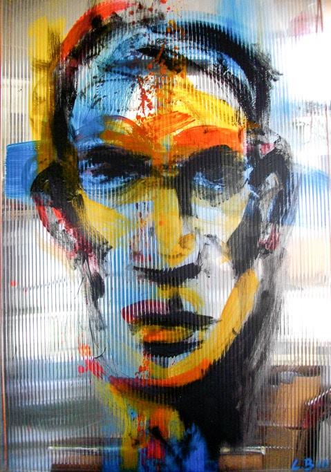 Inconnues familières 010, Acrylique sur plexiglas, by Laure Boin