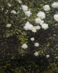 Boules blanches Huile sur toile 120X100 cm 2017 par Laure Boin