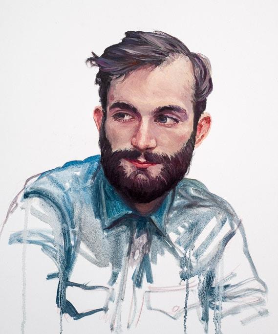 Roman à 24 ans, Huile sur toile, by Laure Boin
